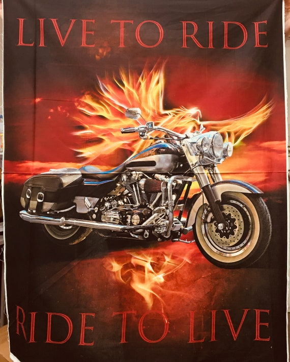 Motorcycle panel Live to Ride