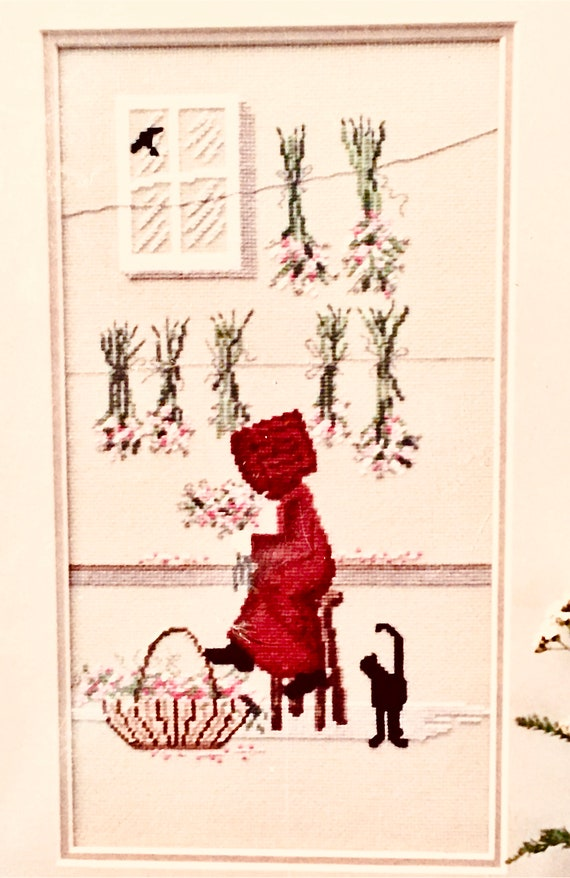 counted crosstitch pattern embroidery Diane Graebner Design Dreamin DG 3 Amish girl cats rare out of print