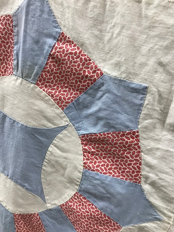Vintage hand made Bubblegum Pink Feedsack Quilt Top with Easter Egg Fabric....Stunning