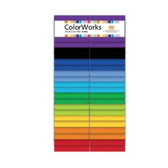 """ColorWorks Premium Solid 9000 CHIPS Charm Pack by Northcott 42 Pieces 5"""" Squares CCOLOR42-86"""