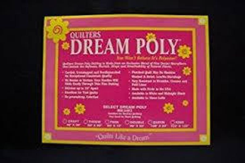 Quilters Dream Poly Black Batting Mid Loft You choose your image 0