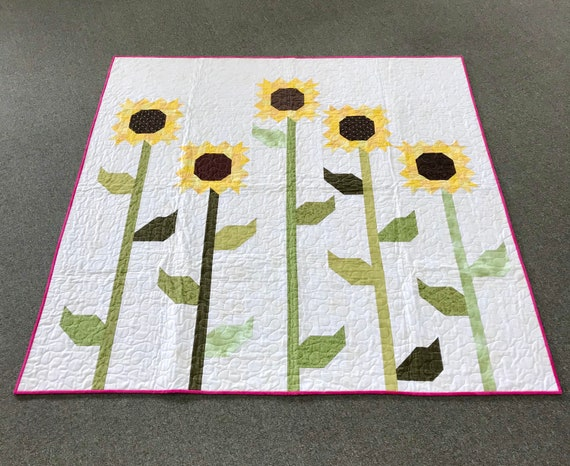 Sunflower Quilt Handmade