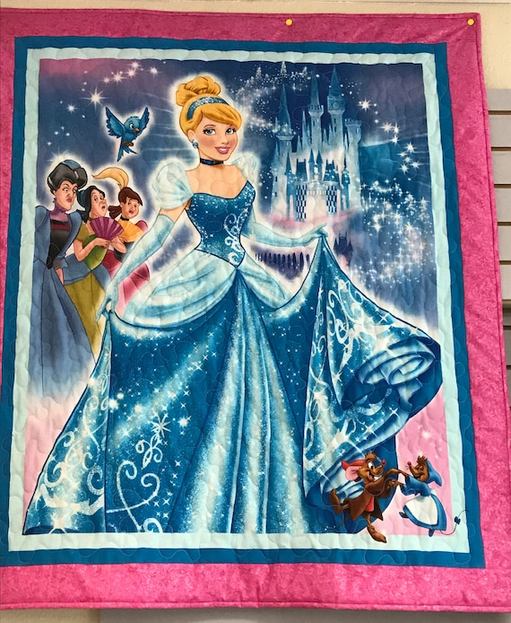 Cinderella Baby Quilt Toddler Quilt Magical Fairy Tale Quilt