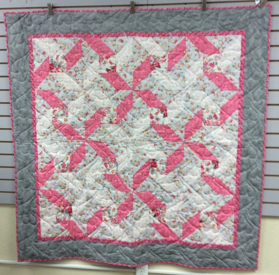 Choose Hope Think Pink Breast Cancer Quilt Throw 58x58
