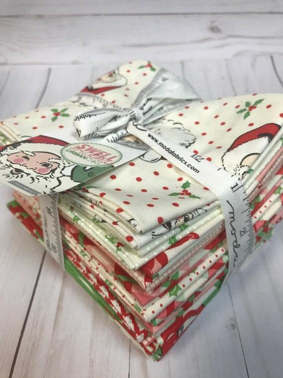 Swell Christmas by Urban Chiks Retro Santa 18 Fat Quarters