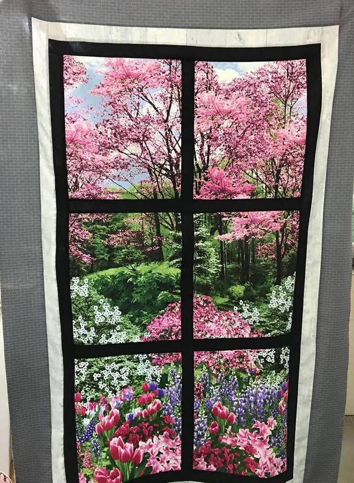 Botanical Garden In Attic Window Quilt Kit Natural Gardens