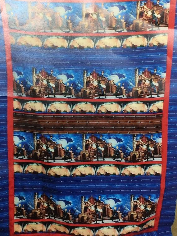 precut quilt kit for boy Pirates Ships