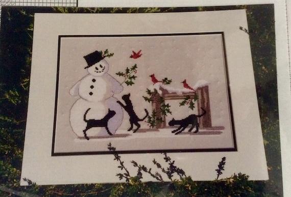 Hello Mr. Snowman Diane Graebner pattern counted cross-stitch embroidery rare OOP DGX-054
