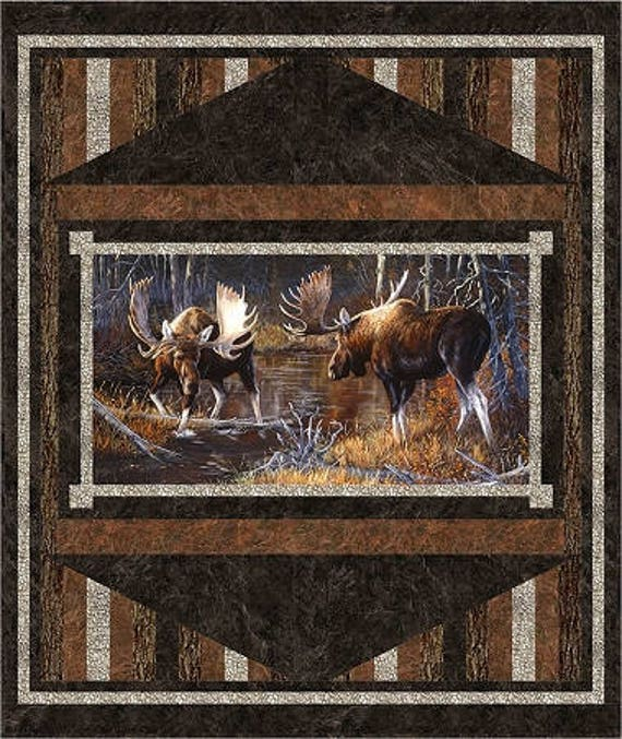 Prelude Majestic Moose Quilt Kit  Wildlife Outdoor Alaska West