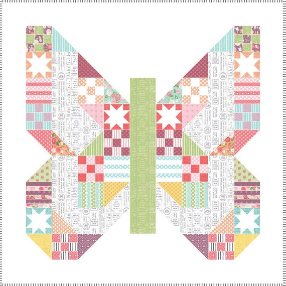 FREE Shipping!  Moda Butterfly Quilt Kit Lollipop Garden Lella Boutique KIT5080