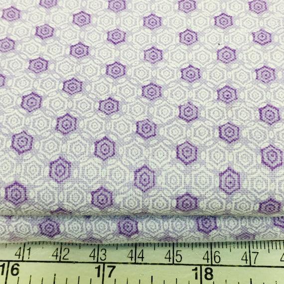 30s depression vintage feedsack lavender geometric Henry Glass Nana Mae cotton fabric