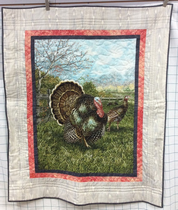 Turkey Wall Hanging 41x49 Wildlife Outdoors Wild Turkey Thanksgiving Hunting
