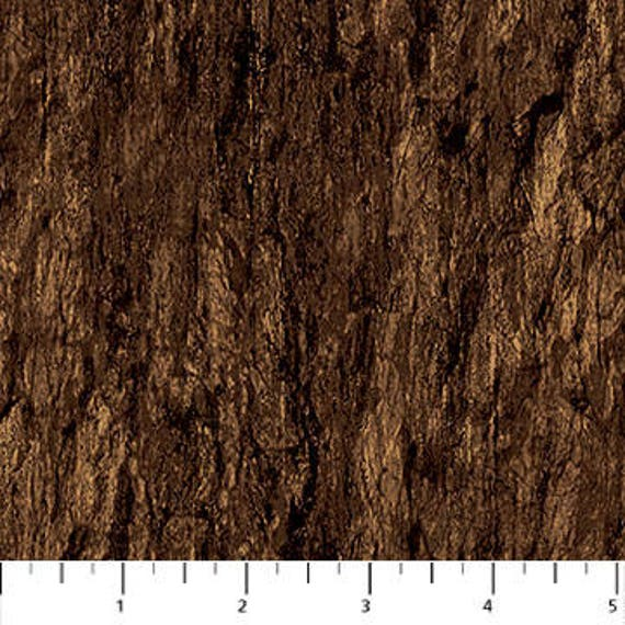 Naturscapes Brown Bark Coordinating  Fabric For Solitary Sentinel by Northcott