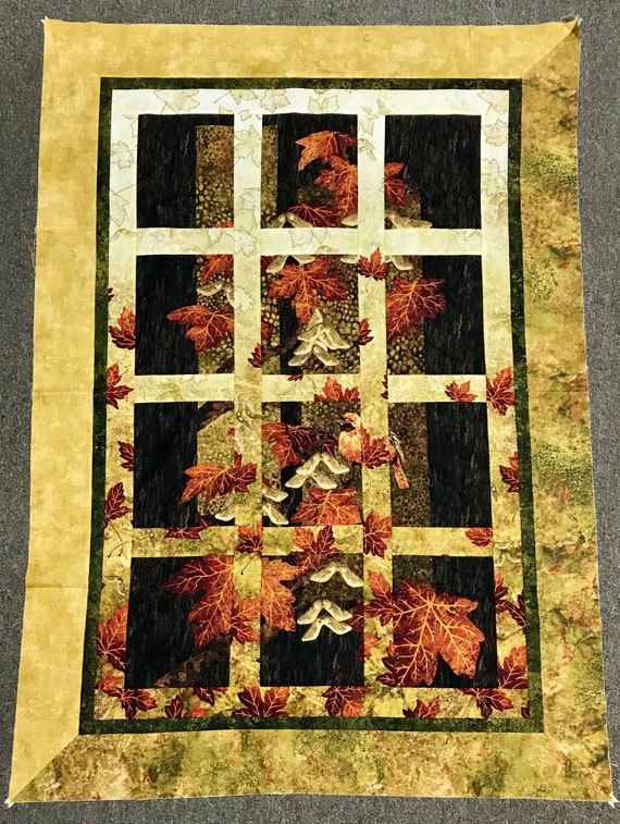 Maplewood Quilt Kit Attic Window Northcott Stonehenge fabric
