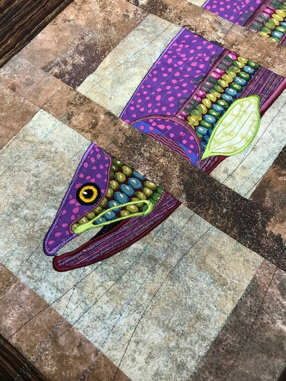 On SALE!  Trout Rainbow Trout Man Cave Fishing Room Wall Decor Outdoor Wildlife Fly Fishing