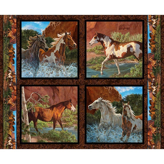 Horses at Rivers Edge Wild Wings by Chris Cummings  Springs Creative CP65188