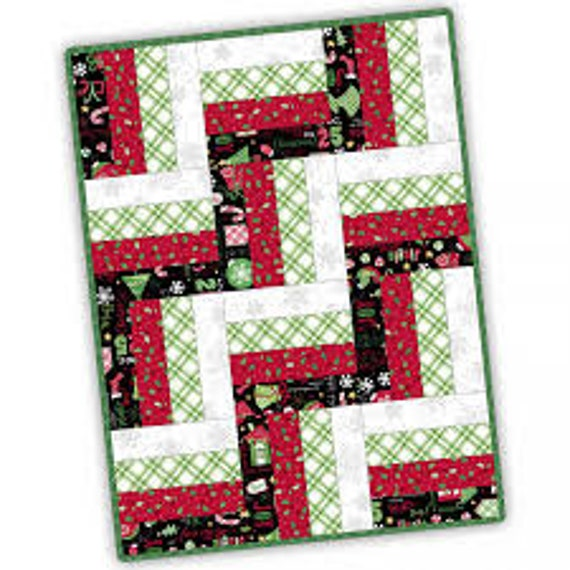 12 Block Rail Fence Quilt Kit
