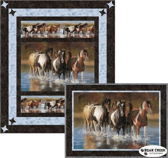 Mustang Creek Quilt Kit Throw 65x76