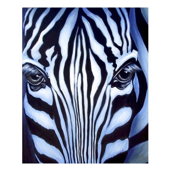 Zebra Portrait Panel by David Textiles