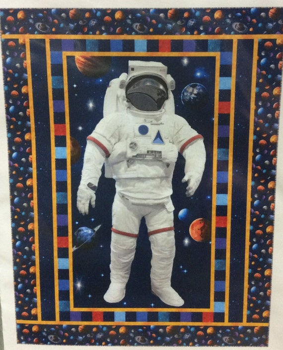 Finished Space Walk Quilt Twin Size Features Across the Universe Handmade Quilt
