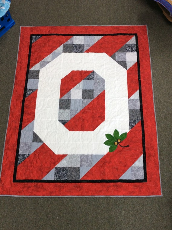 Ohio State Buckeyes Quilt or Wall Hanging Quilt