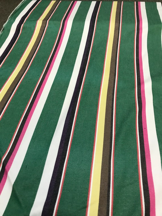 Serape Green Stripe fabric by the yard great for beach mat