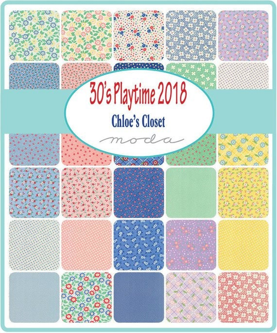 30's Playtime Jelly Roll 2018 Strips 2.5 inch wide.