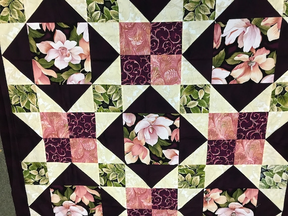 Afternoon Delight Magnolia Quilt Top or Finished Quilt