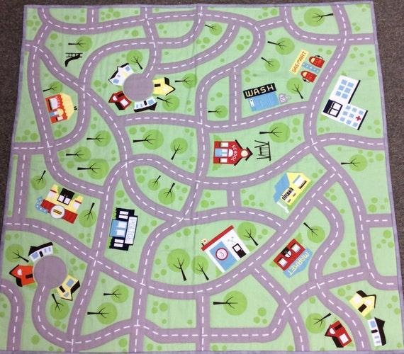 Car Play Mat Canvas Top 35x37