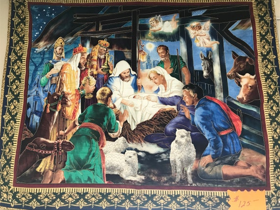 Nativity Wall Hanging Christmas Baby Jesus Religious 36x45