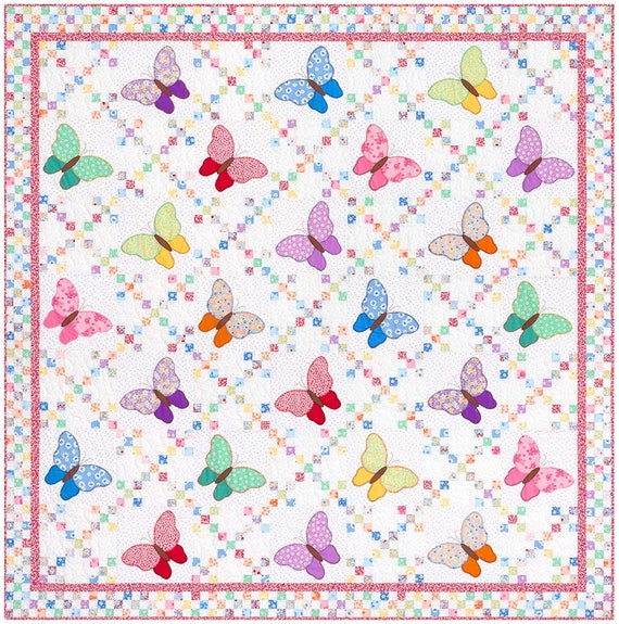 Aunt Ella's Butterflies Quilt Kit Darlene Zimmerman Feedsack
