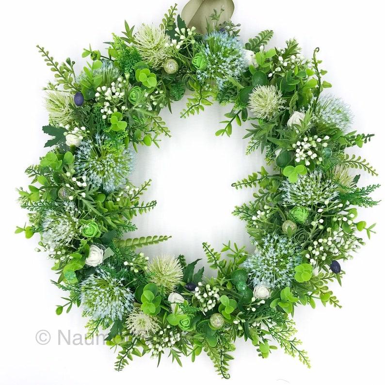 Front Food Wreath Welcome Wreath Wildflower Wreath June Wreath Farm Wreath Green Wreath Porch Wreath Summer Wreath
