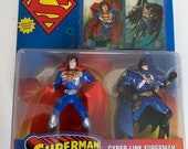 Cyber-Link Superman Man Of Steel and Cyber-Link Batman DC Comics Kenner Toys