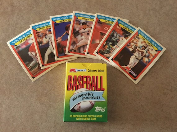 1988 Topps KMART Baseball Memorable Moments Card Set Ryan/Brett/Rose