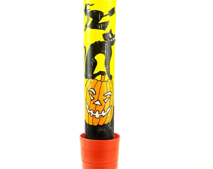 Vintage Eveready Halloween Black Cat/Witch/Pumpkin Light Cover Spooky Flashlight