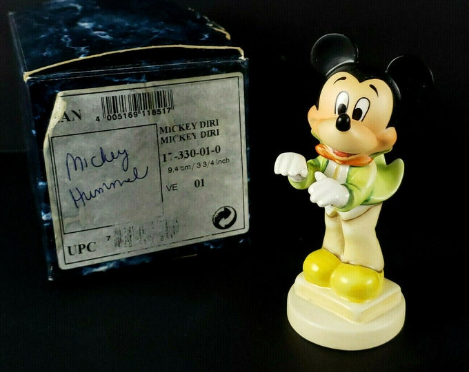 Disney Goebel Hummel Mickey Mouse Band Leader HTF Figurine Signed Master Painter