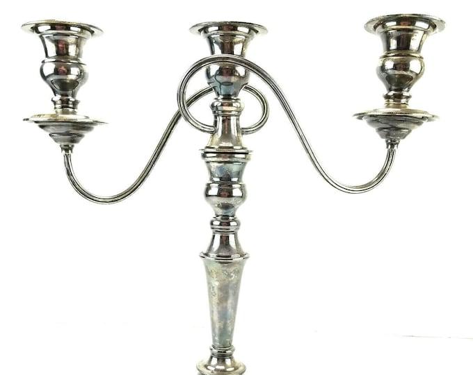 Vintage Silverplate Candelabra Candlestick Holder England Poston Reproduction