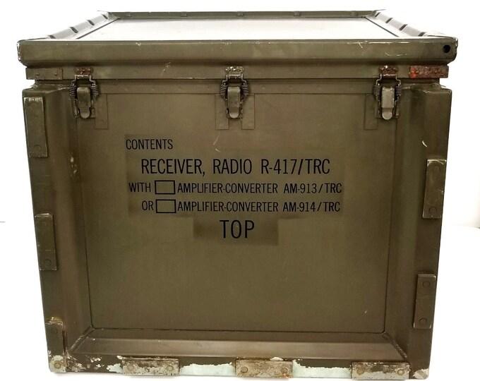 US Army Signal Corps Radio Receiver Case Western Electric Korean Vietnam War Era