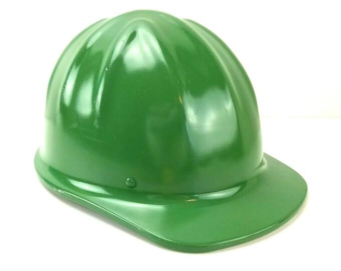 Vintage McDonald T Standard Cap Green Aluminum Hard Hat Helmet