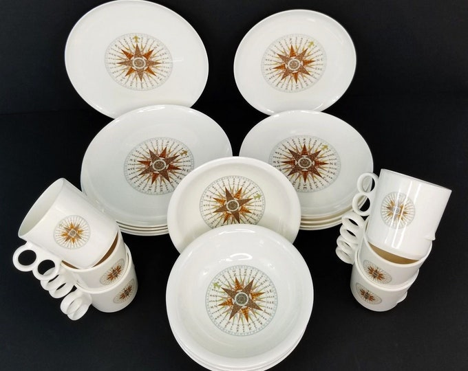 24pc Mepal Adolf Opel Cartaffini Nautical Boat Dish/Bowl/Mug Set Service for 6