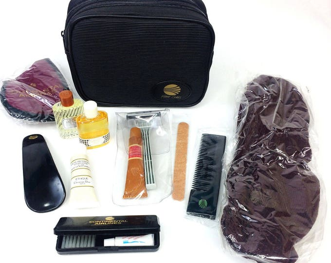 Vintage Continental Airlines First Class Amenity Travel Kit:Christian Dior Miss Dior