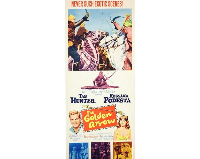 Vintage 1963 Original The Golden Arrow Movie Poster