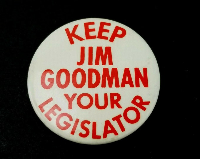 Vintage Political Campaign Advertising Legislator Jim Goodman Pocket Mirror