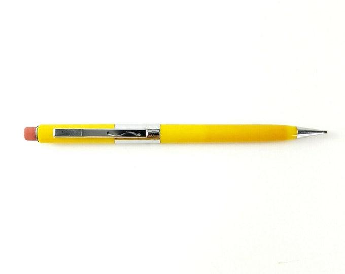 Vintage Scripto Yellow w Chrome Trim P360 Thin Lead .9mm Mechanical Pencil