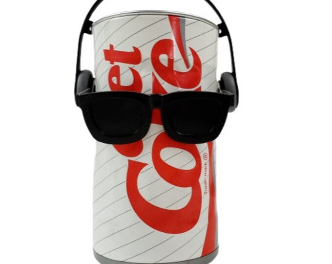 Vintage 80s Diet Coke Coca Cola Dancing Sound Activated Can w Sunglasses WORKS
