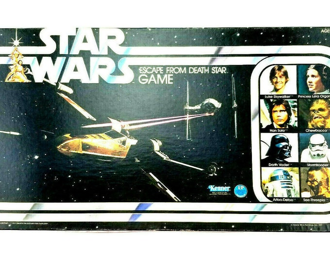 Vintage Star Wars 1977 Escape From the Death Star Kenner Board Game 40080 L2