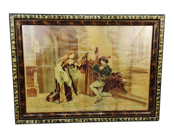 Antique 1894 P.O. Vickery Augusta ME Marriage of Romeo and Juliet Framed Art Print