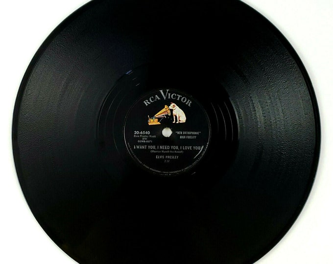 78 RPM RCA Victor Elvis Presley My Baby Left Me/I Want You Record 20-6540 lk