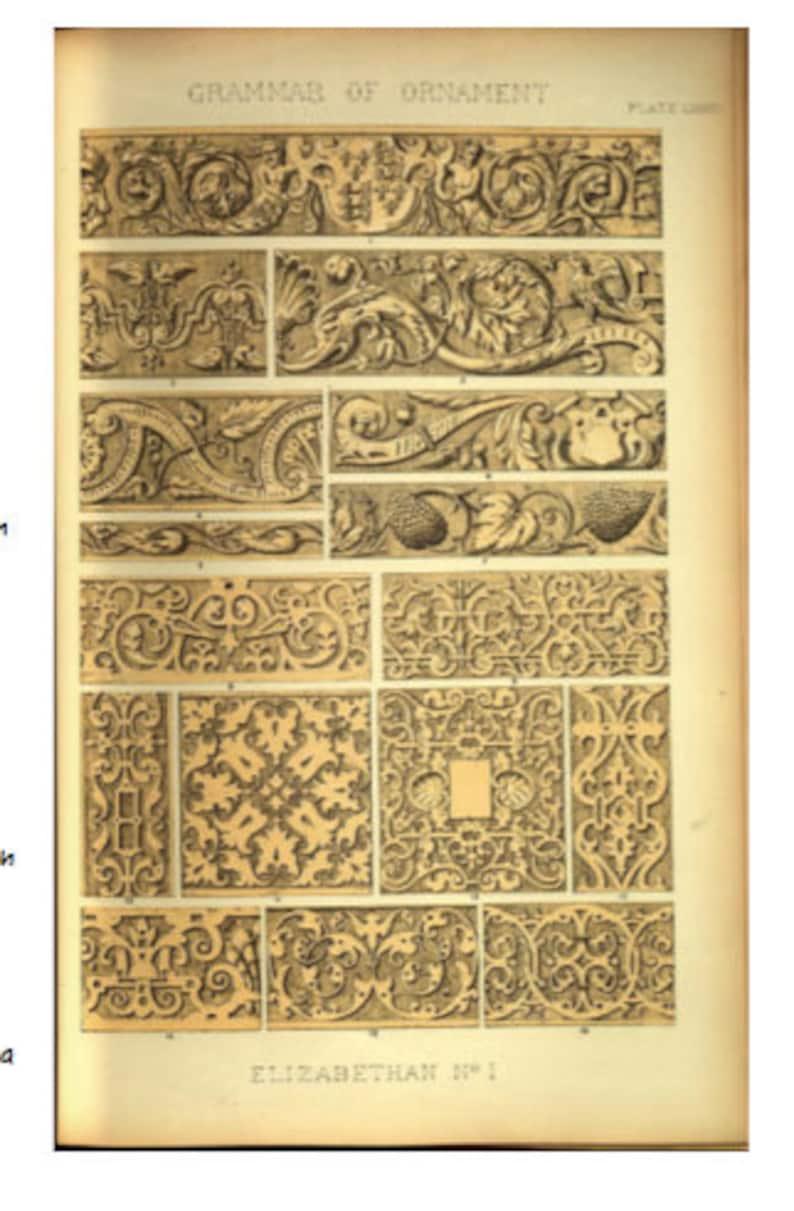 Elizabethan Blackwork Ornament Pattern paper copy