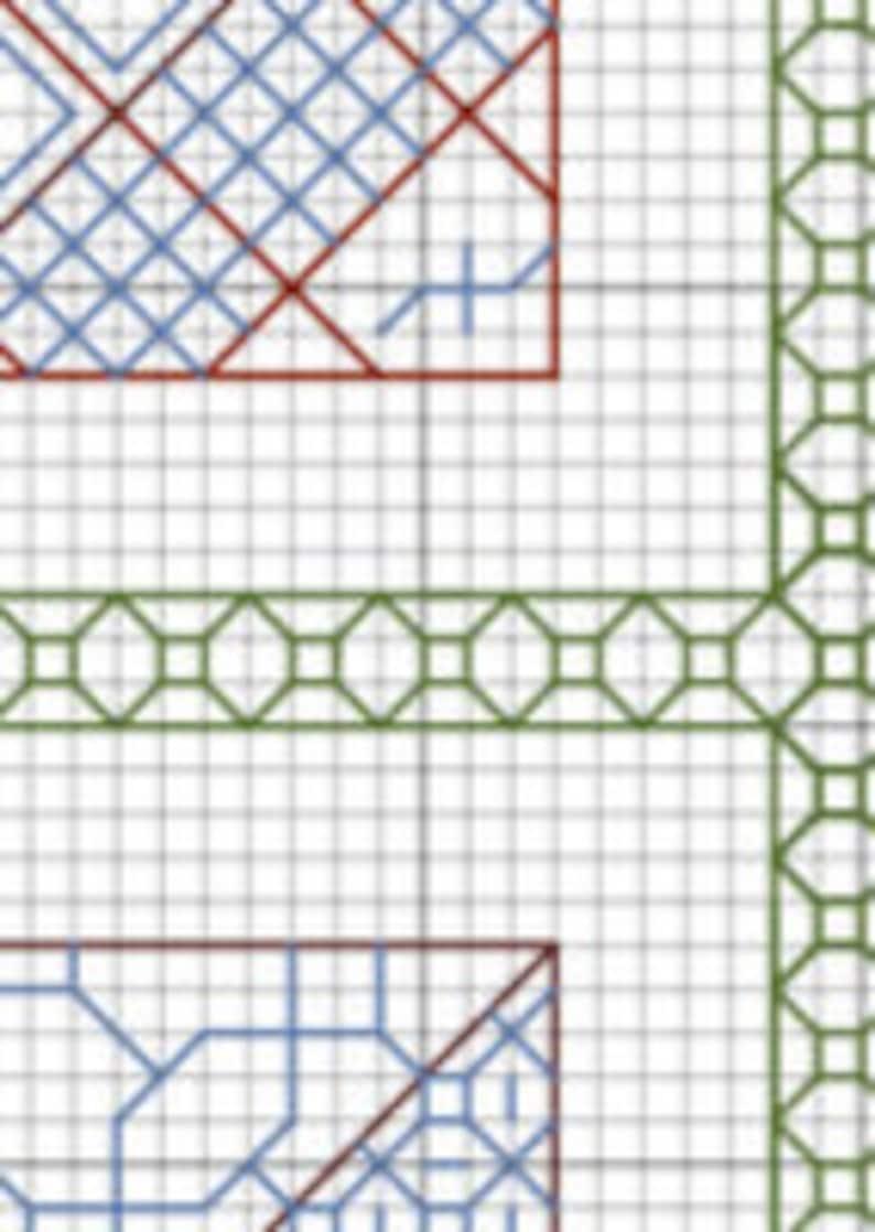 Pattern Blackwork Quilt Squares PDF